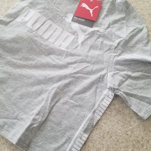 *GIFT* NWT Relaxed Fit PUMA Gray Crop Top